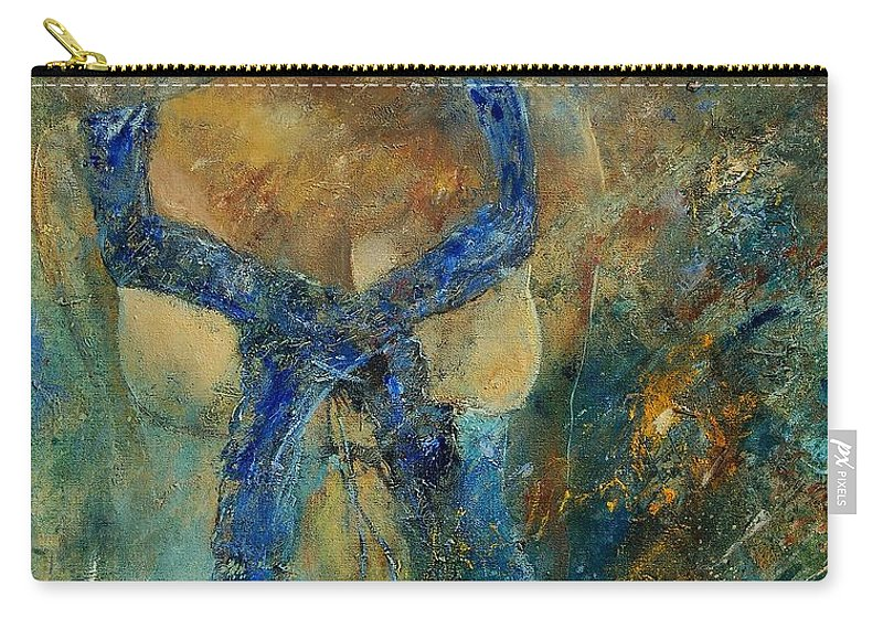 Girl Carry-all Pouch featuring the painting Young Lady 5698 by Pol Ledent