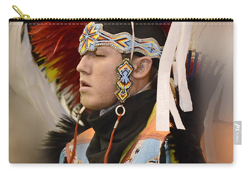 Pow Wow Carry-all Pouch featuring the photograph Pow Wow Young Man by Bob Christopher