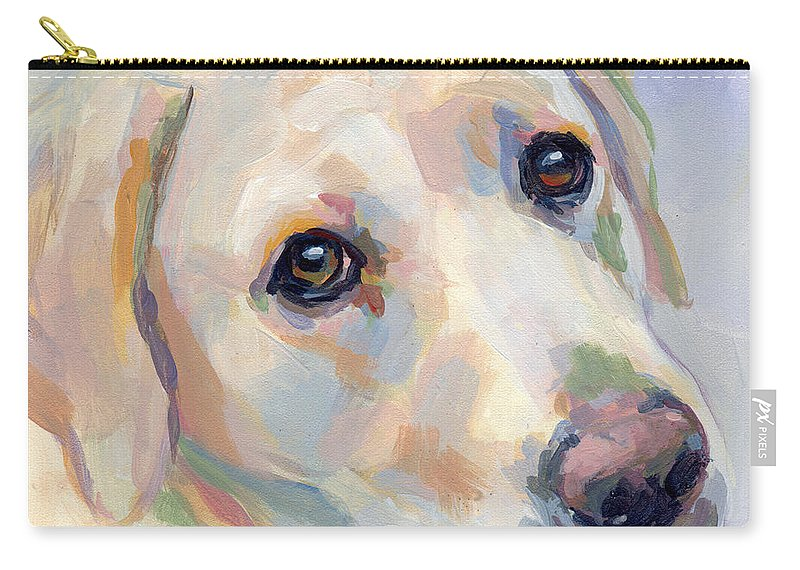 Yellow Lab Carry-all Pouch featuring the painting Young Man by Kimberly Santini
