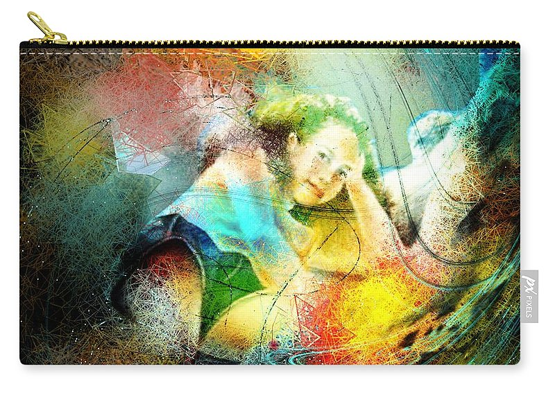 Nature Carry-all Pouch featuring the painting Young Seduction by Miki De Goodaboom