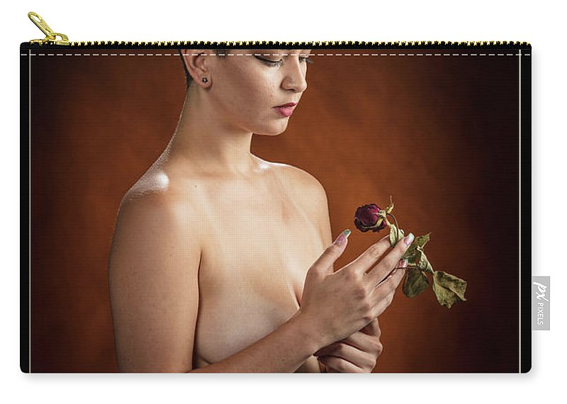 Nude Carry-all Pouch featuring the photograph Young Woman Nude 1729.175 by Kendree Miller