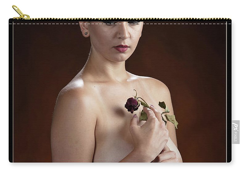 Nude Carry-all Pouch featuring the photograph Young Woman Nude 1729.176 by Kendree Miller