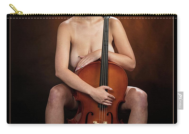Nude Carry-all Pouch featuring the photograph Young Woman Nude 1729.189 by Kendree Miller
