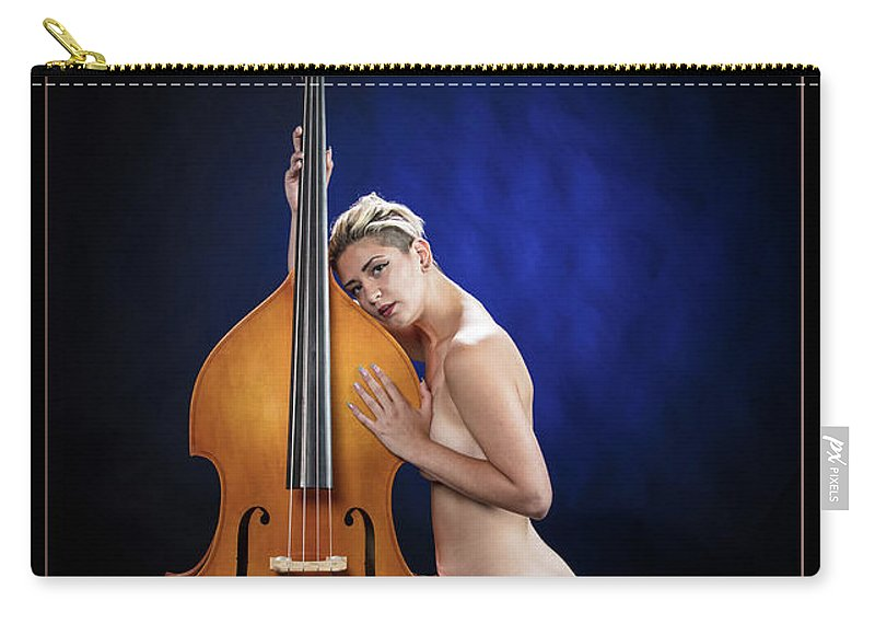 Nude Carry-all Pouch featuring the photograph Young Woman Nude 1729.195 by Kendree Miller