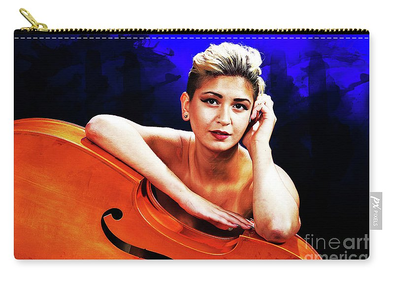Nude Carry-all Pouch featuring the photograph Young Woman Nude 1729.199 by Kendree Miller