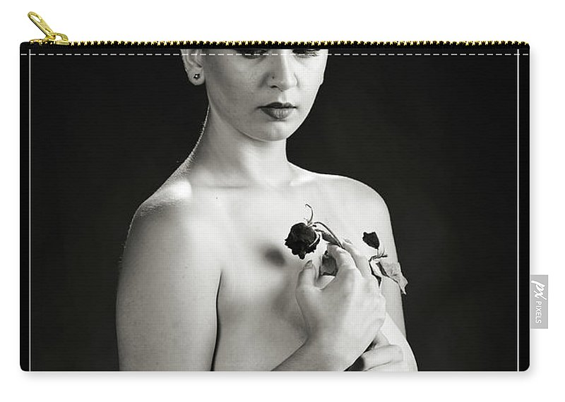 Nude Carry-all Pouch featuring the photograph Young Woman Nude 1729.551 by Kendree Miller