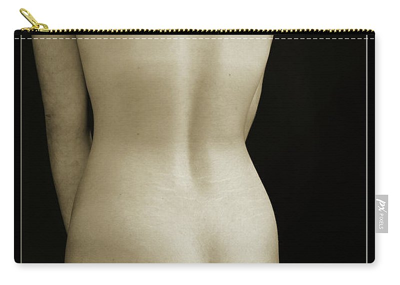 Nude Carry-all Pouch featuring the photograph Young Woman Nude 1729.557 by Kendree Miller