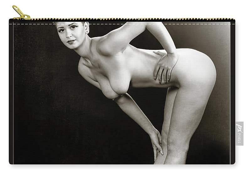Nude Carry-all Pouch featuring the photograph Young Woman Nude 1729.560 by Kendree Miller