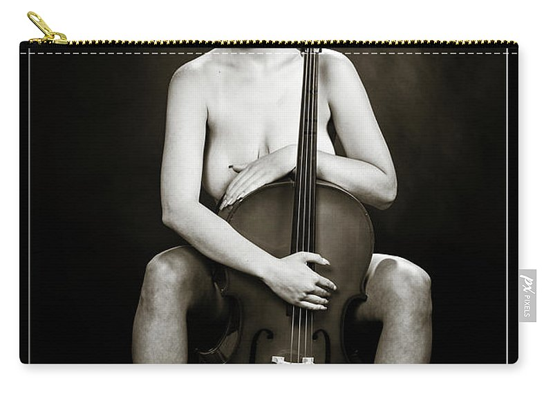 Nude Carry-all Pouch featuring the photograph Young Woman Nude 1729.564 by Kendree Miller