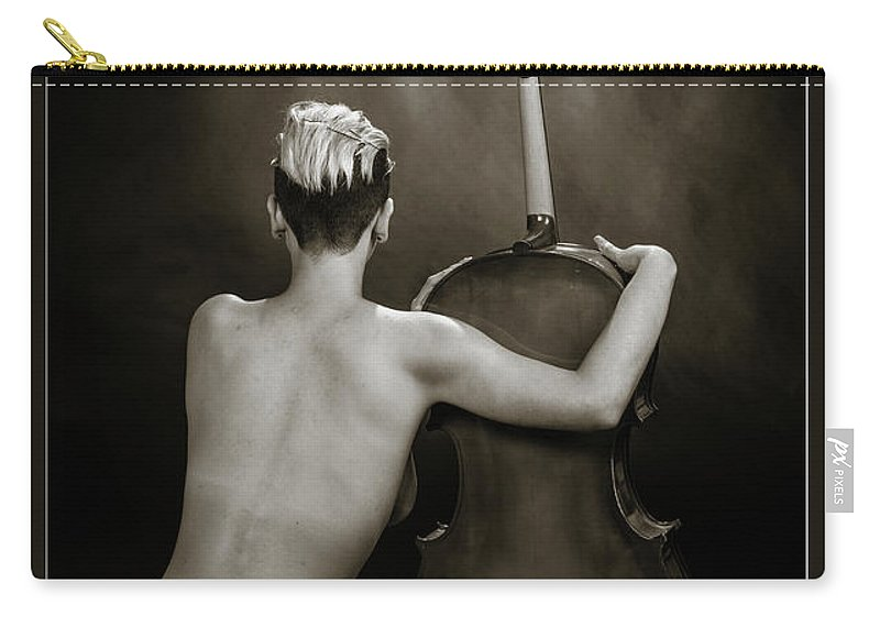 Nude Carry-all Pouch featuring the photograph Young Woman Nude 1729.565 by Kendree Miller