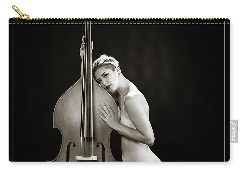 Nude Carry-all Pouch featuring the photograph Young Woman Nude 1729.570 by Kendree Miller