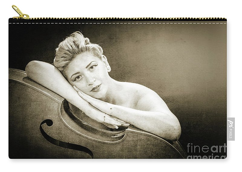 Nude Carry-all Pouch featuring the photograph Young Woman Nude 1729.573 by Kendree Miller