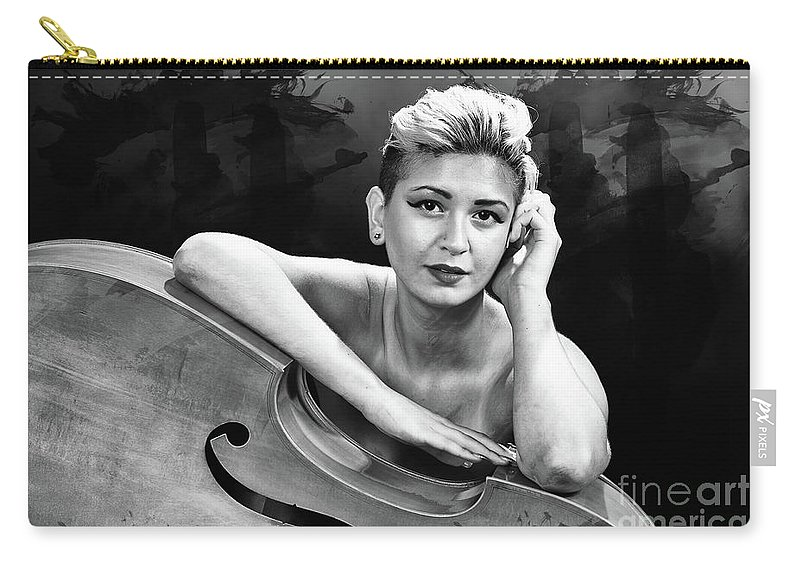 Nude Carry-all Pouch featuring the photograph Young Woman Nude 1729.574 by Kendree Miller