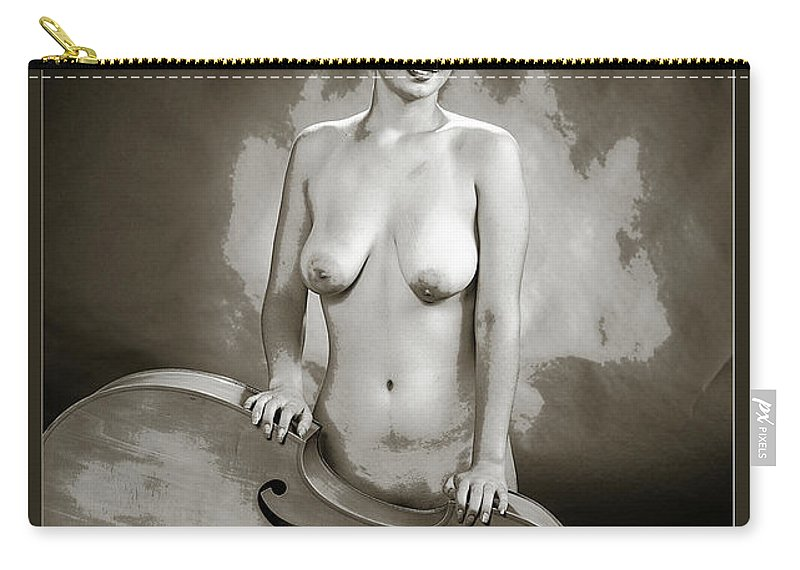 Nude Carry-all Pouch featuring the photograph Young Woman Nude 1729.575 by Kendree Miller