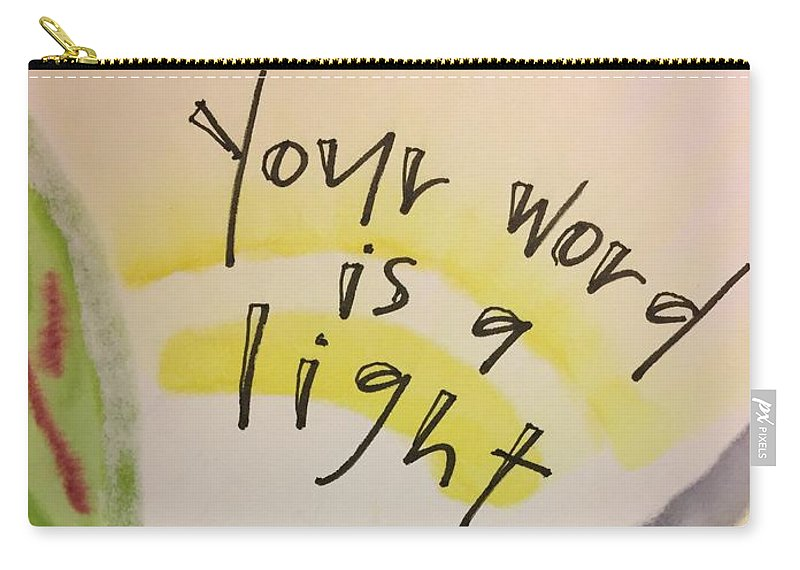 Light Carry-all Pouch featuring the painting Your Word is a Light by Vonda Drees