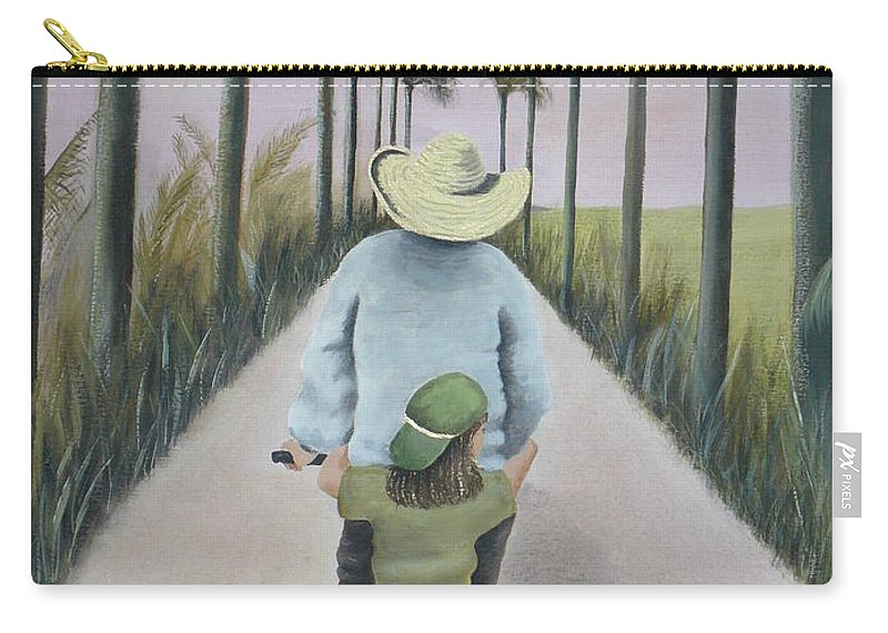 Tropical Carry-all Pouch featuring the painting You're The Best by Kris Crollard