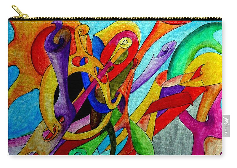 Yourname Carry-all Pouch featuring the painting Yourname by Helmut Rottler