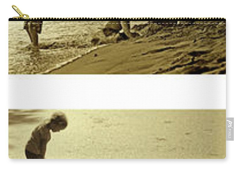 Youth Carry-all Pouch featuring the photograph Youth At The Water by Madeline Ellis