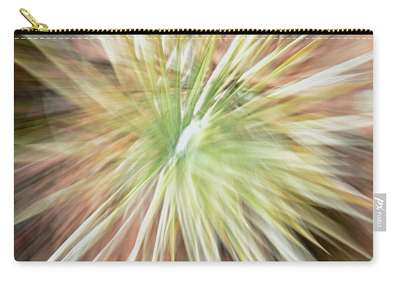 Yucca Carry-all Pouch featuring the photograph Yucca Burst by Ric Bascobert