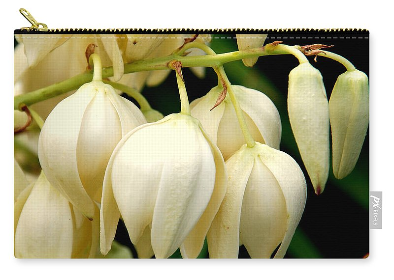 Yuca Carry-all Pouch featuring the photograph Yucca Flower by Susanne Van Hulst