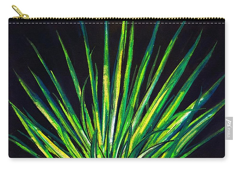Yucca Carry-all Pouch featuring the drawing Yucca by Melvin Moon