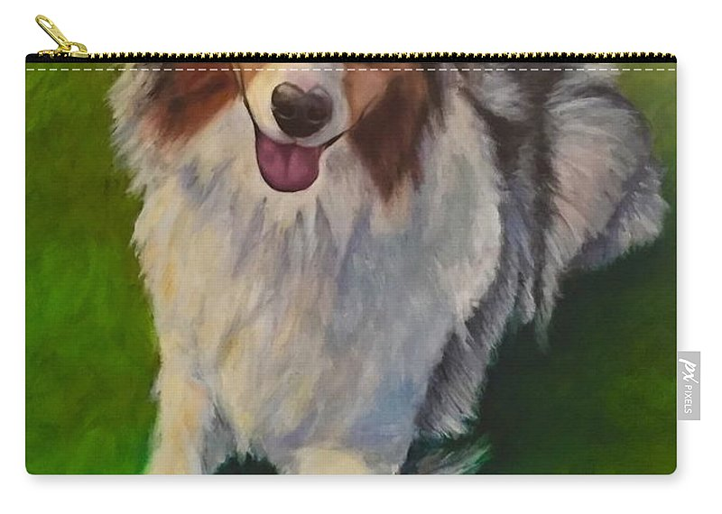 Yuki Carry-all Pouch featuring the painting Yuki by Shannon Grissom