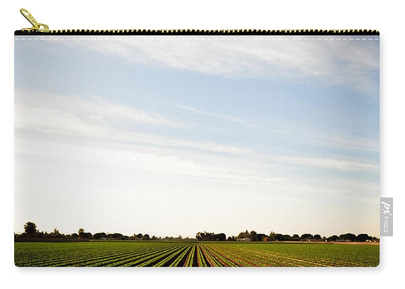 Lettuce Carry-all Pouch featuring the photograph Yuma Fields by Scott Sawyer