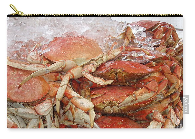 Crabs Carry-all Pouch featuring the photograph Yummy by Deborah Crew-Johnson
