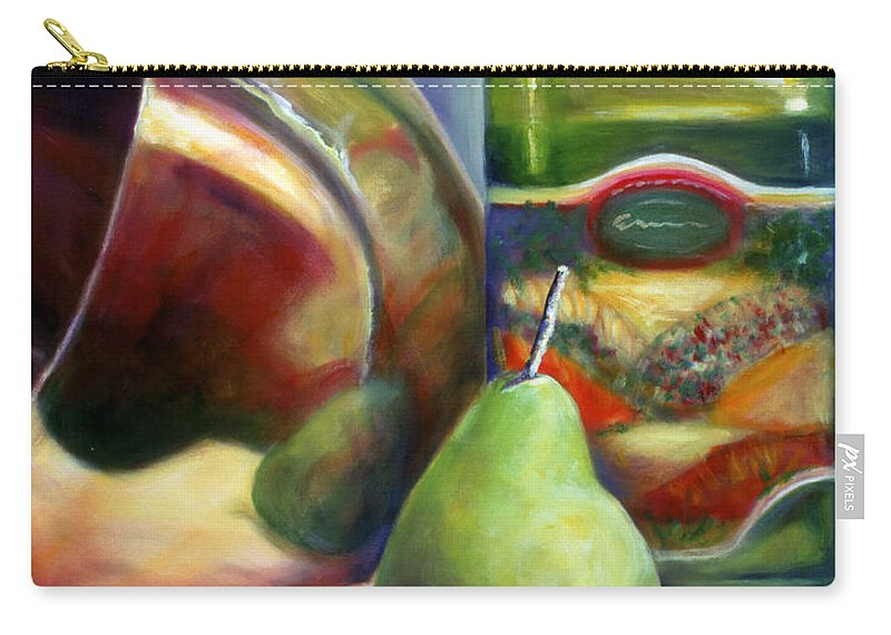 Copper Vessel Carry-all Pouch featuring the painting Zabaglione Pan by Shannon Grissom