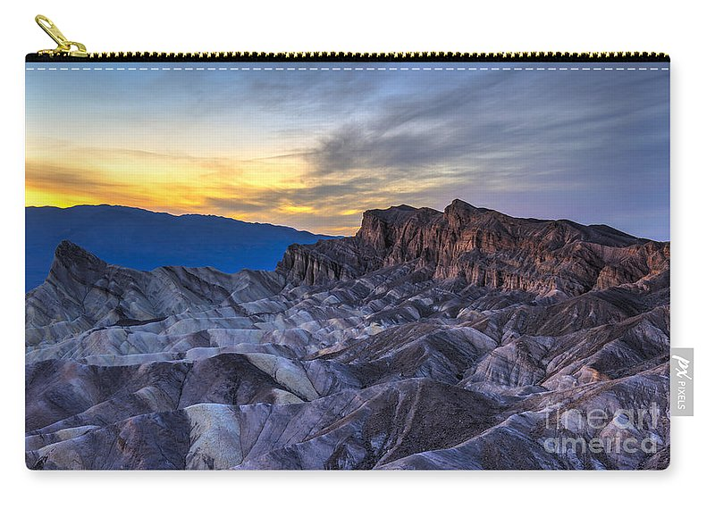 Adventure Carry-all Pouch featuring the photograph Zabriskie Point Sunset by Charles Dobbs