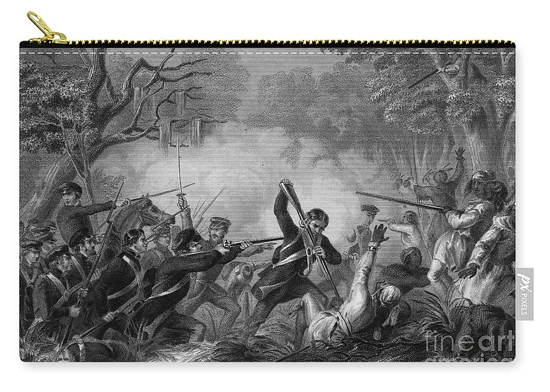 1837 Carry-all Pouch featuring the drawing Zachary Taylor , 1784-1850 by Granger