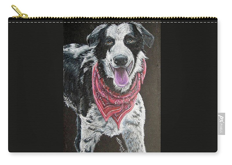 Fuqua - Artwork Carry-all Pouch featuring the drawing Zack by Beverly Fuqua