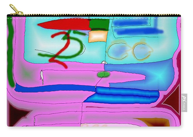 Zapp Carry-all Pouch featuring the digital art Zapp by Helmut Rottler