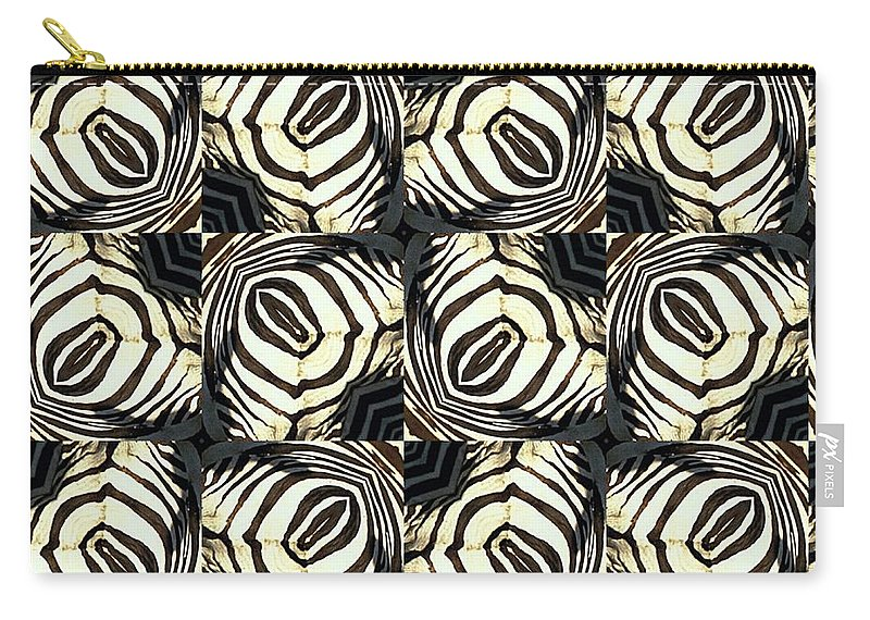 Digital Carry-all Pouch featuring the digital art Zebra IIi by Maria Watt