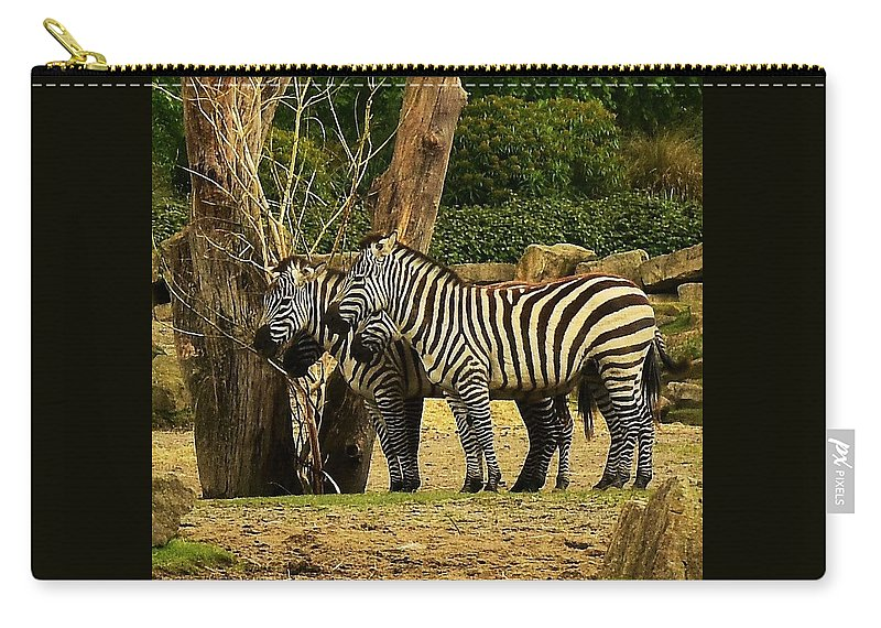 Wild Carry-all Pouch featuring the photograph Zebra by Johnny Griffin
