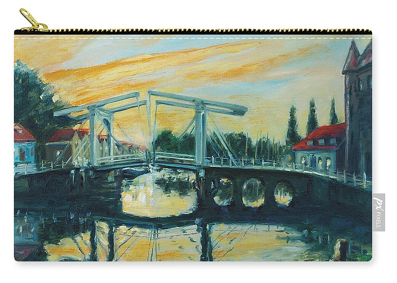 Bridge Carry-all Pouch featuring the painting Zeeland by Rick Nederlof