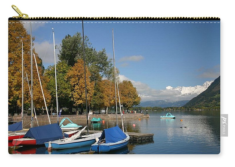 Sail Boats Carry-all Pouch featuring the photograph Zell Am See The Elements In Austria by Minaz Jantz