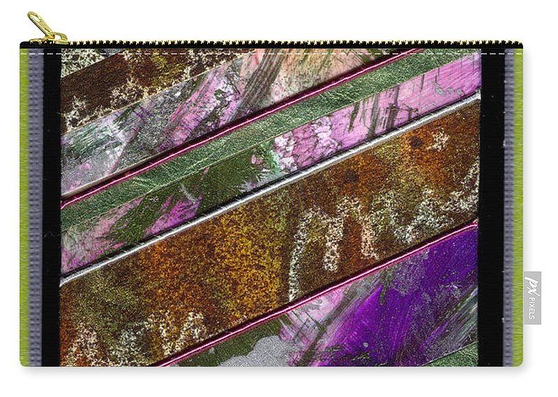 Vibrant Carry-all Pouch featuring the mixed media Zig Then Zag by Angela L Walker