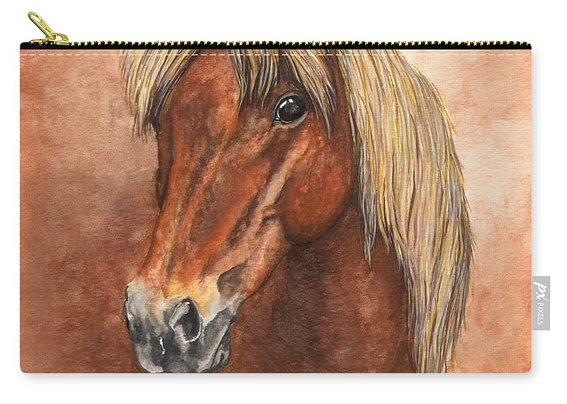 Pony Carry-all Pouch featuring the painting Ziggy by Kristen Wesch