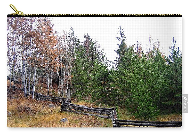 Zigzag Rail Fence Carry-all Pouch featuring the photograph Zigzag Rail Fence by Will Borden