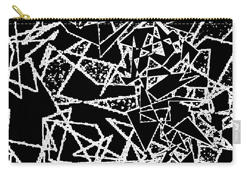Abstract Carry-all Pouch featuring the digital art Zigzag by Will Borden