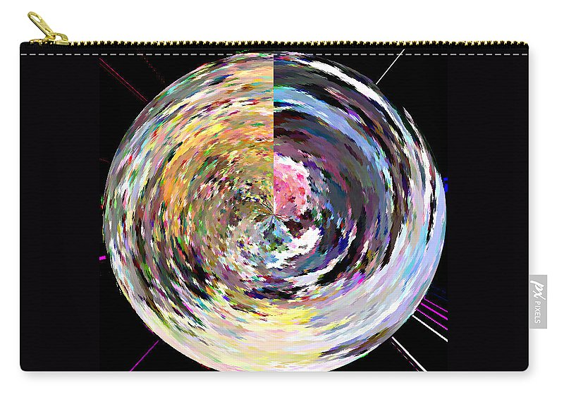 Digital Carry-all Pouch featuring the painting Zing by Anil Nene