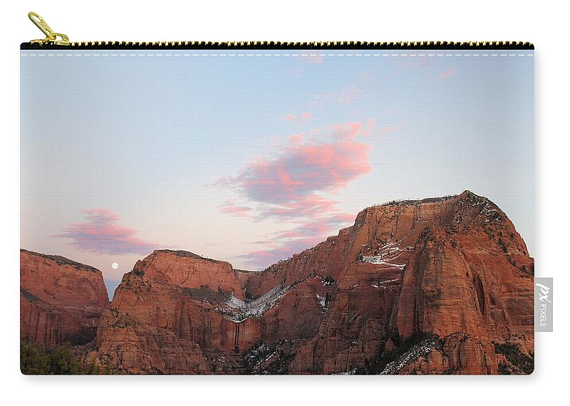 Zion Carry-all Pouch featuring the photograph Zion Mountain #3 by John Knoppers