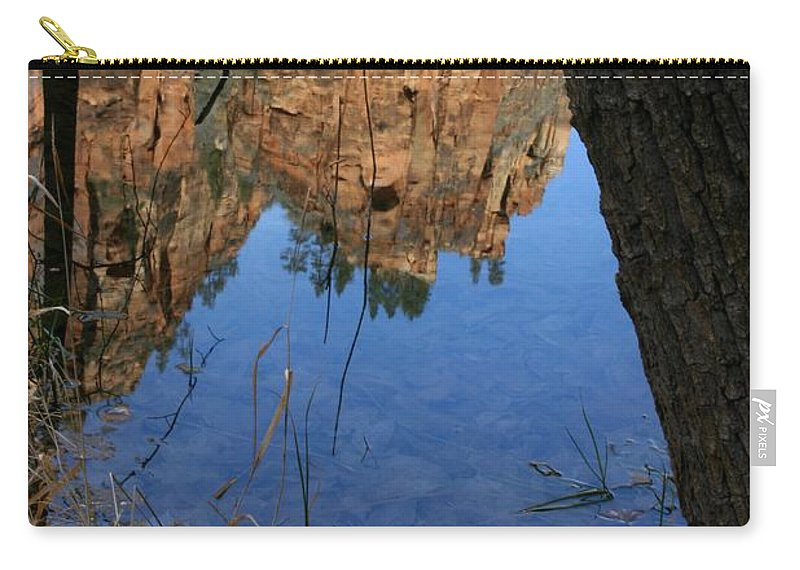 Zion Carry-all Pouch featuring the photograph Zion Reflections by Nelson Strong