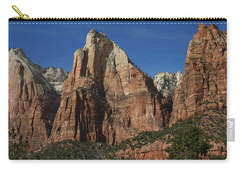 Zion Carry-all Pouch featuring the photograph Zion's Patriarchs by Nelson Strong