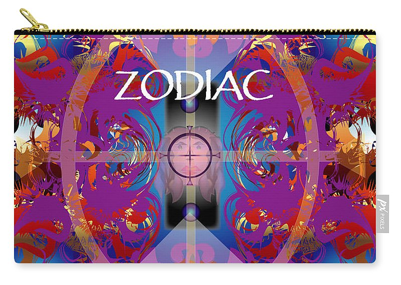 Abstaract Carry-all Pouch featuring the digital art Zodiac 2 by George Pasini