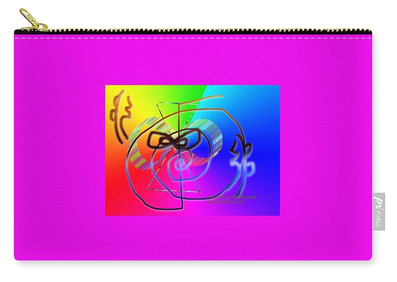 Zonar Reiki Symbol Carry-all Pouch featuring the digital art Zonar Reiki Symbol by Rizwana A Mundewadi
