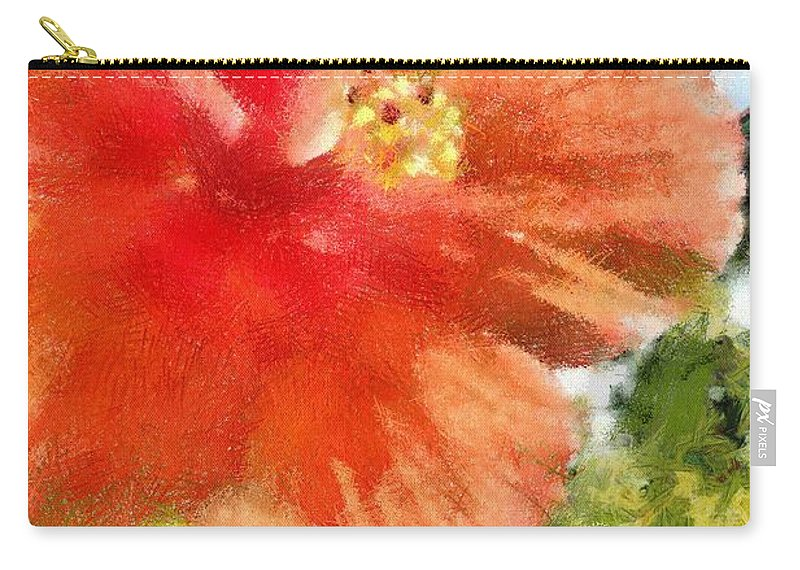 Zoo Carry-all Pouch featuring the painting Zoo Flower by Jeffrey Kolker