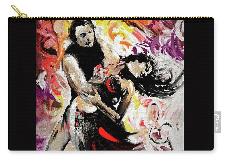Zouk Carry-all Pouch featuring the painting Zouk Lambada Dance by Alex Thomas