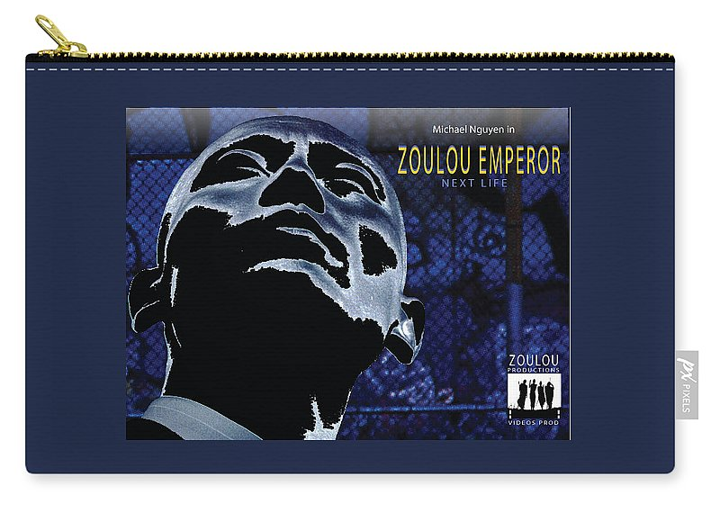 Poster Carry-all Pouch featuring the photograph Zoulou Emperor by Line Gagne